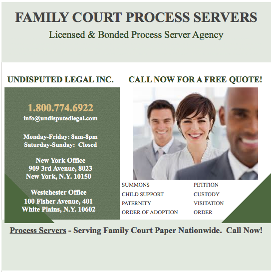 Do You Need Help Serving Family Court Papers, Call Now For A